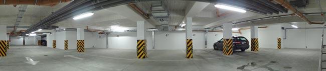 hala garażowa miejsca parkingowe