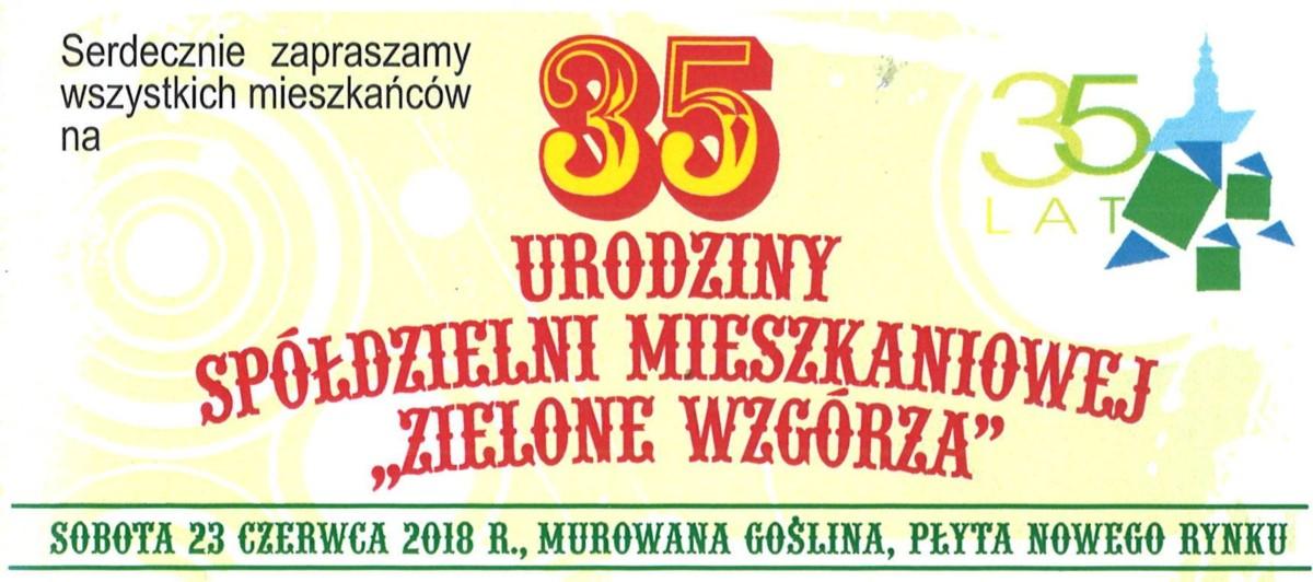 """35 urodziny Spółdzielni Mieszkaniowej """"Zielone Wzgórza"""""""